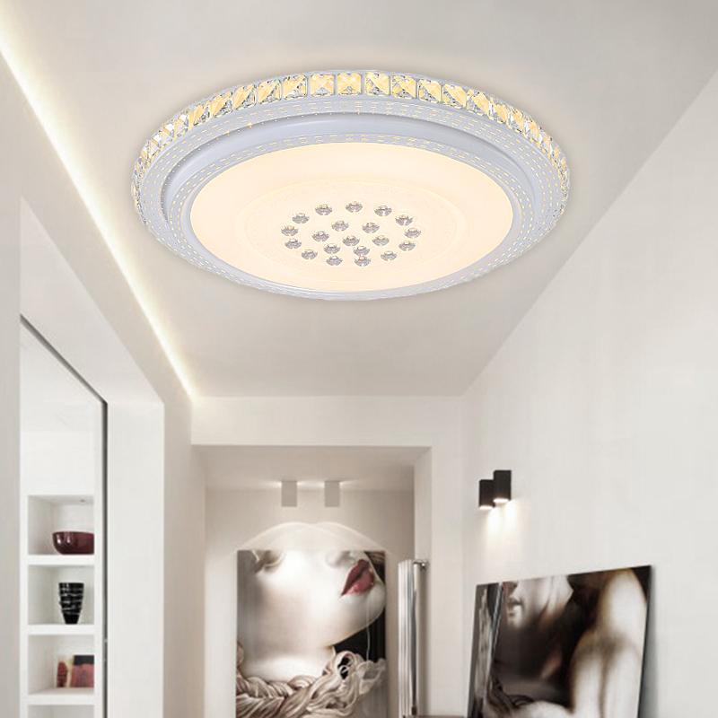 warmwei led kristall deckenleuchte 48w wohnzimmer flur. Black Bedroom Furniture Sets. Home Design Ideas