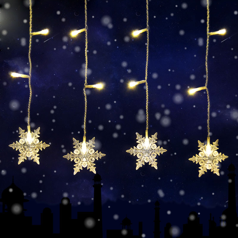 Christmas String Lights Stars : LED Star Curtain Light Christmas String Light Curtain Lights Waterproof Party eBay