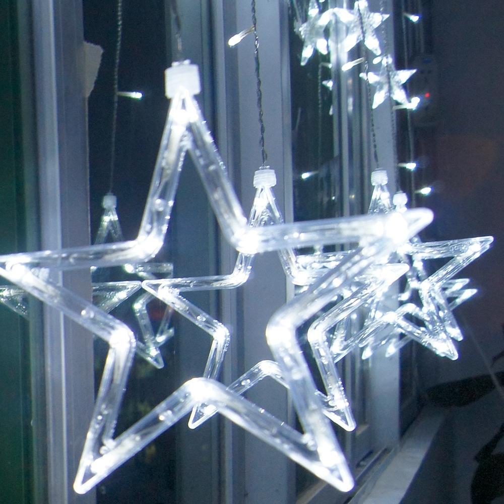 Led sternenvorhang lichterkette lichtervorhang weihnachten for Lichtervorhang weihnachten