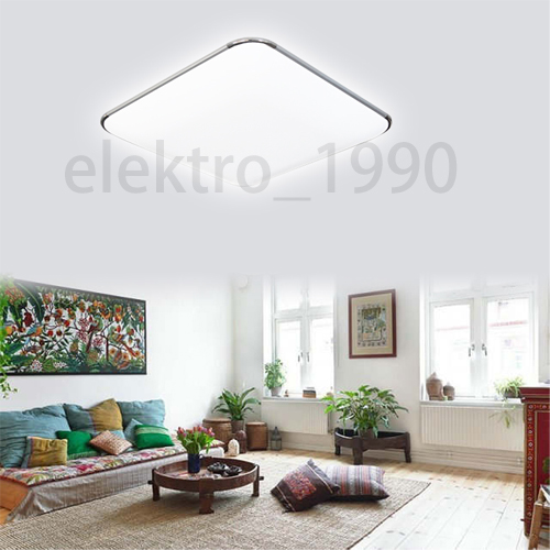 36w led deckenleuchte wohnzimmer deckenlampe flur badlampe panel b ro k che ebay. Black Bedroom Furniture Sets. Home Design Ideas