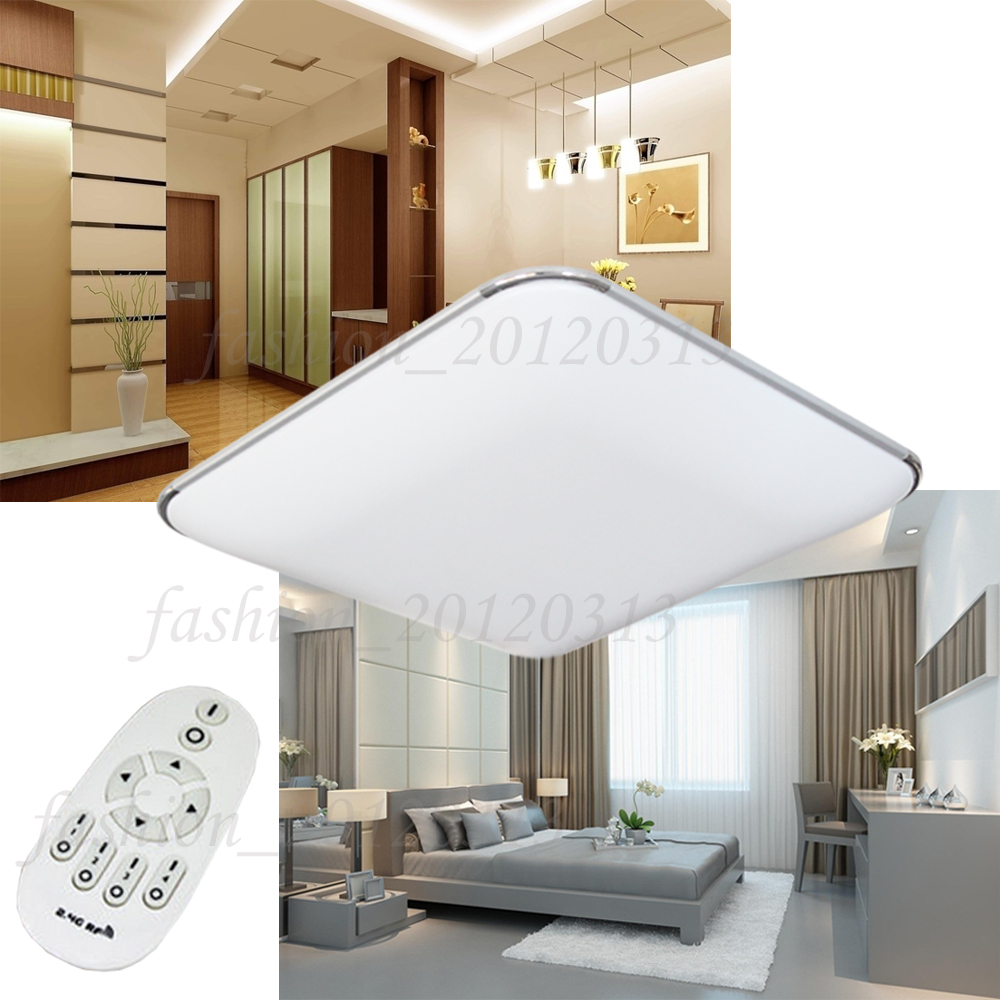 36w led deckenleuchte deckenlampe panel dimmbar fernbedienung modern energiespar ebay. Black Bedroom Furniture Sets. Home Design Ideas