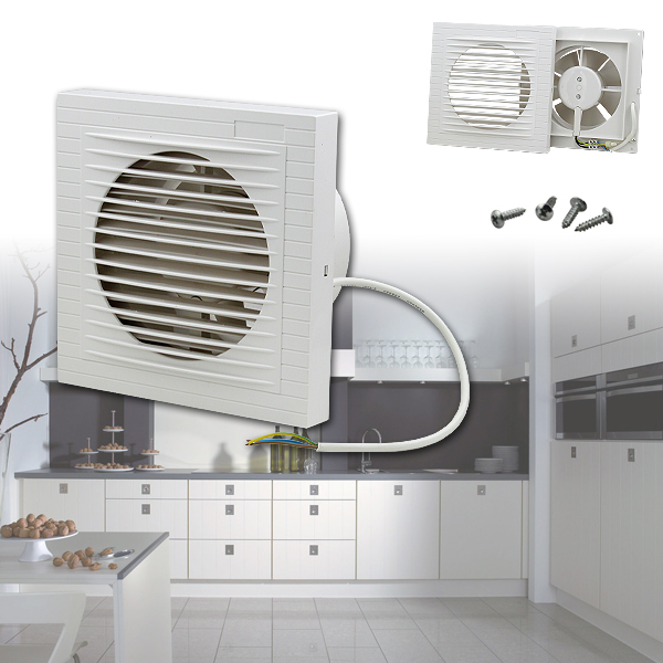 badl fter ventilator 100 mm weiss wandventilator l fter abluft l fter bad wc ebay. Black Bedroom Furniture Sets. Home Design Ideas