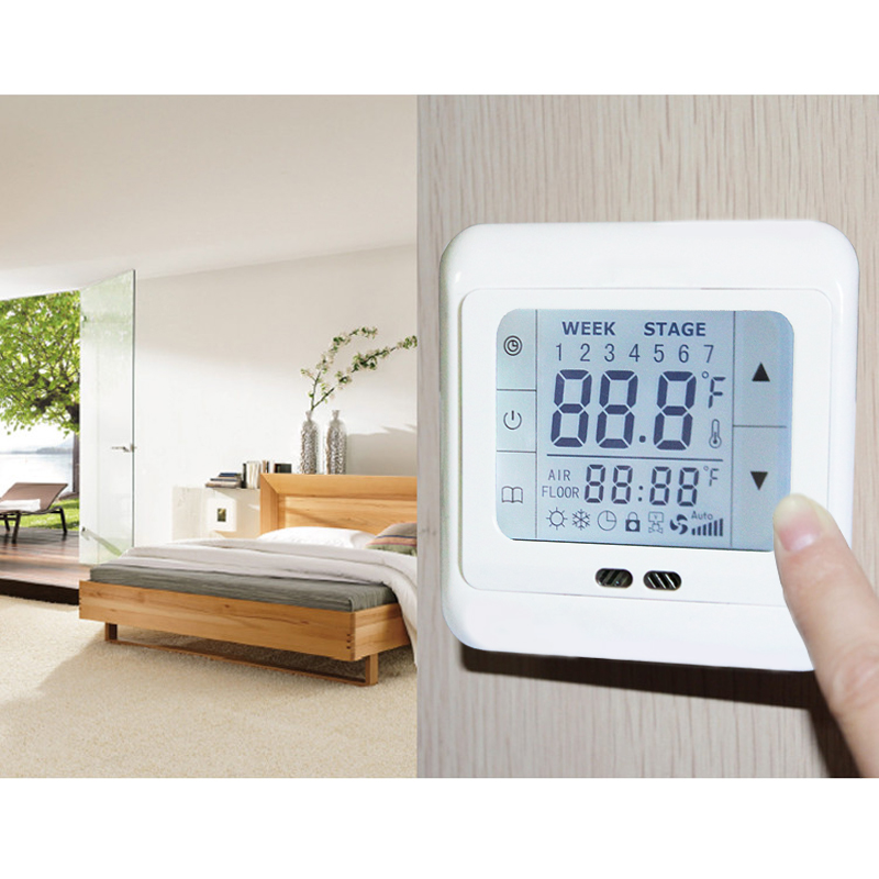 5x digital programmierbar thermostat fu bodenheizung. Black Bedroom Furniture Sets. Home Design Ideas