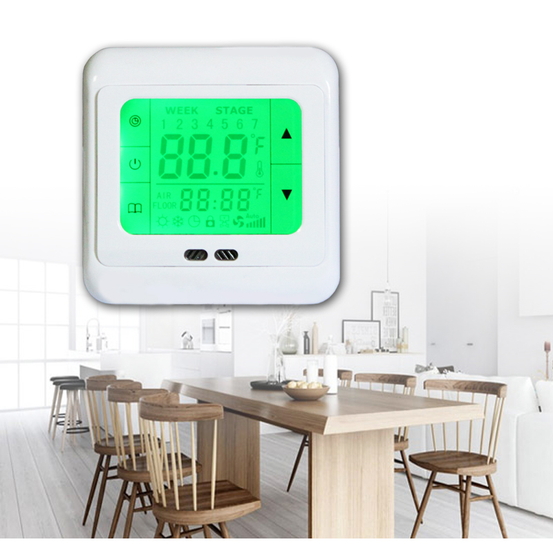 lcd digital raumthermostat thermostat fussbodenheizung. Black Bedroom Furniture Sets. Home Design Ideas