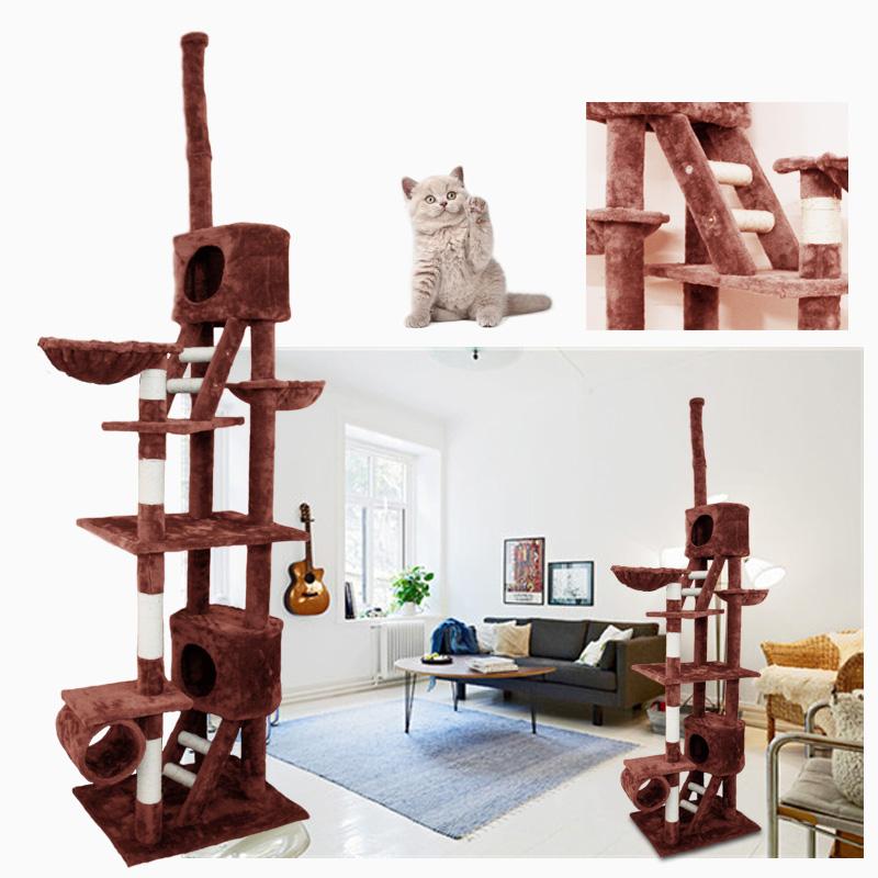 kratzbaum katzenkratzbaum kletterbaum f r katzen katzenbaum luxus xxl braun ebay. Black Bedroom Furniture Sets. Home Design Ideas