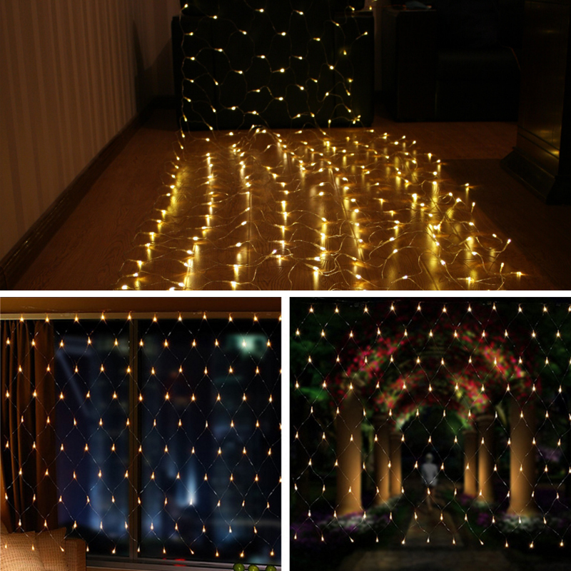 Drape String Lights Ceiling : 6M*4M Fairy String Net Curtain Mesh LED Xmas Party Ceiling Lights Outdoor Lamps eBay