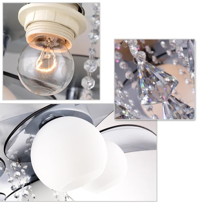 3 flammig led kristall deckenleuchte design b ro wohnzimmer deckenlampe l ster ebay. Black Bedroom Furniture Sets. Home Design Ideas