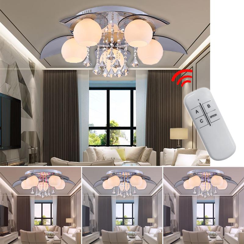 25w 5 flammig led rgb kristal deckenleuchte deckenlampe for Deckenleuchte wohnzimmer e27