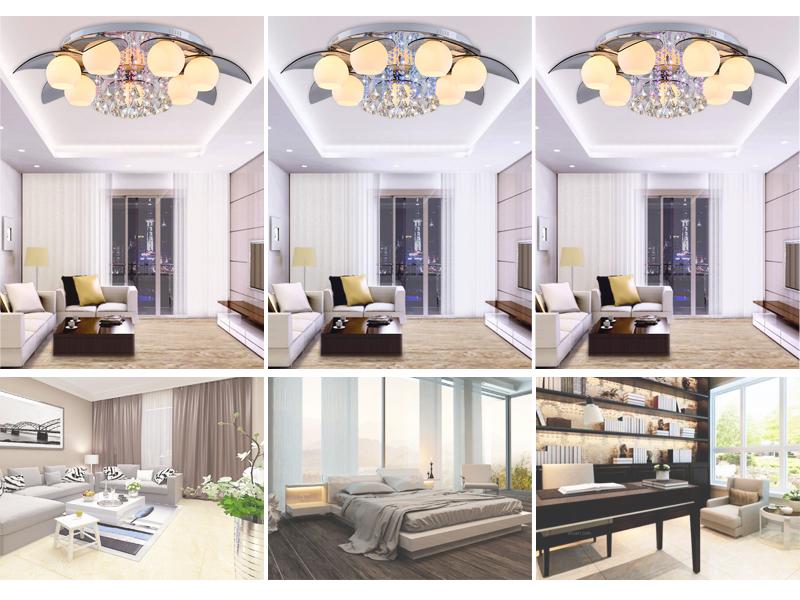 E27 warmwei led kristall deckenleuchte 35w wohnzimmer for Deckenleuchte wohnzimmer e27