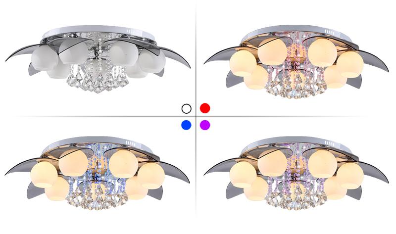 7 flammig led kristall luxus deckenleuchte wohnzimmer deckenlampe wandlampe flur ebay. Black Bedroom Furniture Sets. Home Design Ideas