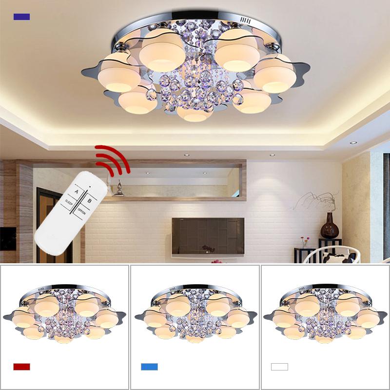 Led kristall deckenleuchte l ster wohnzimmer wandlampe for Deckenleuchte wohnzimmer e27