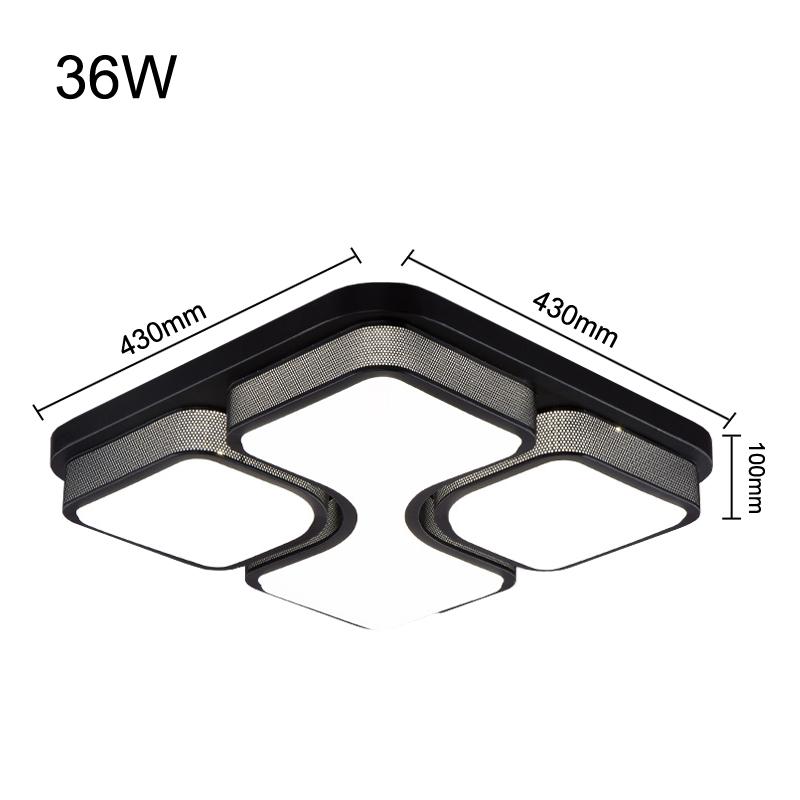 36w led deckenleuchte wandlampe deckenlampe wohnzimmer. Black Bedroom Furniture Sets. Home Design Ideas