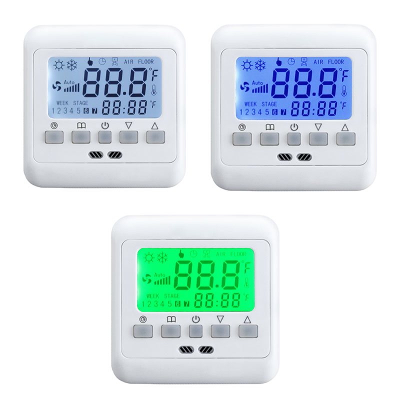 lcd digital raumthermostat digitaler bodenf hler. Black Bedroom Furniture Sets. Home Design Ideas