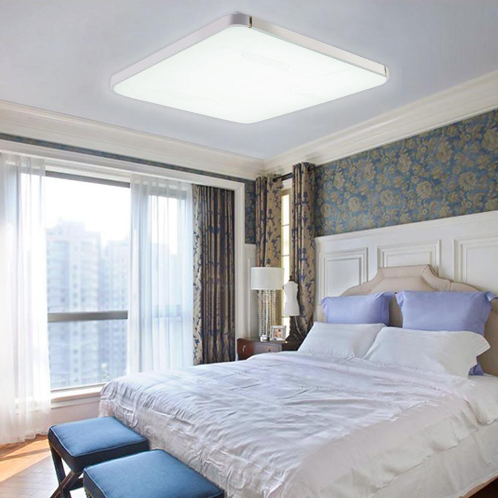 64w wei led deckenlampe deckenleuchte panel lampe wohnzimmer flur deckenlicht ebay. Black Bedroom Furniture Sets. Home Design Ideas