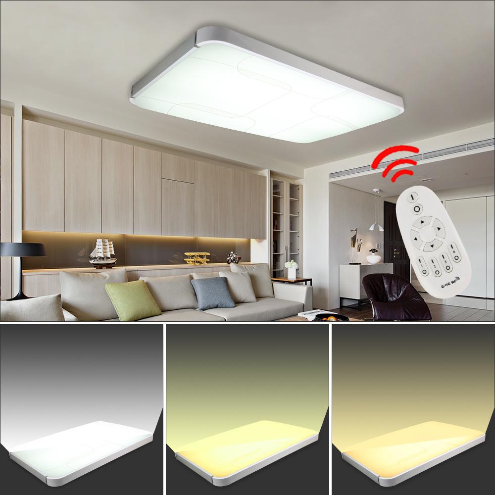 48w panel led deckenlampe deckenleuchte deko wandlampe rgb fernbedienung dimmbar. Black Bedroom Furniture Sets. Home Design Ideas