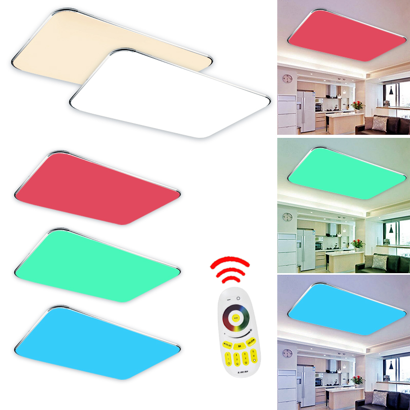 25w 90w led farbwechsel rgb deckenleuchte fernbedienung panel deckenlampe lampe ebay. Black Bedroom Furniture Sets. Home Design Ideas