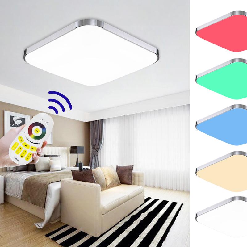 54w farbwechsel rgb led deckenlampe schlafzimmer deckenleuchte badlampe dimmbar ebay. Black Bedroom Furniture Sets. Home Design Ideas