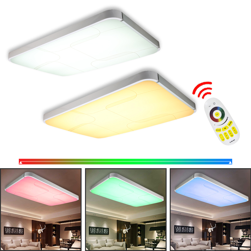 90w rgb led deckenlampe deckenleuchte lampe panel deckenlicht wohnzimmer dimmbar ebay. Black Bedroom Furniture Sets. Home Design Ideas
