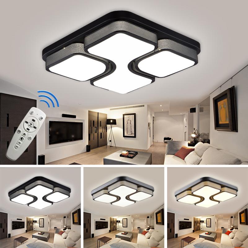 36 48 64w modern led deckenlampe wohnzimmer deckenleuchte wandlampe beleuchtung ebay. Black Bedroom Furniture Sets. Home Design Ideas