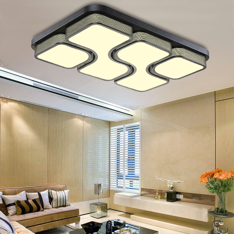 Modern LED Panel Ceiling Light 36W 48W Bathroom Kitchen