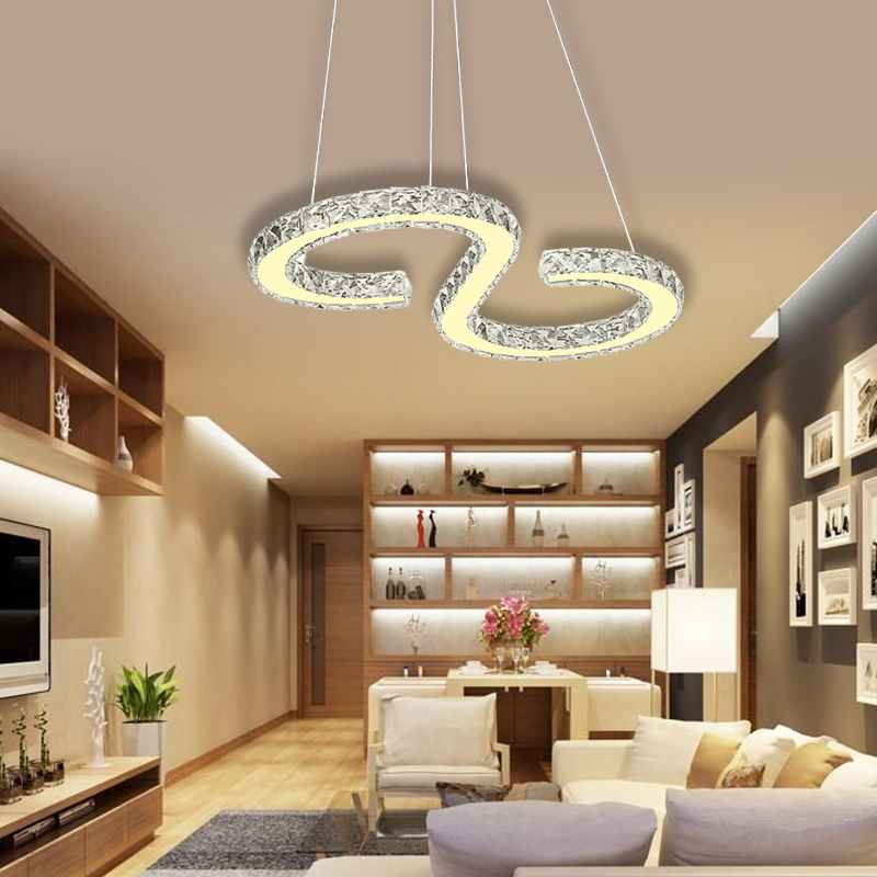 led kristall deckenleuchte 36w deckenlampe wandlampe wohnzimmer h ngeleuchte ebay. Black Bedroom Furniture Sets. Home Design Ideas