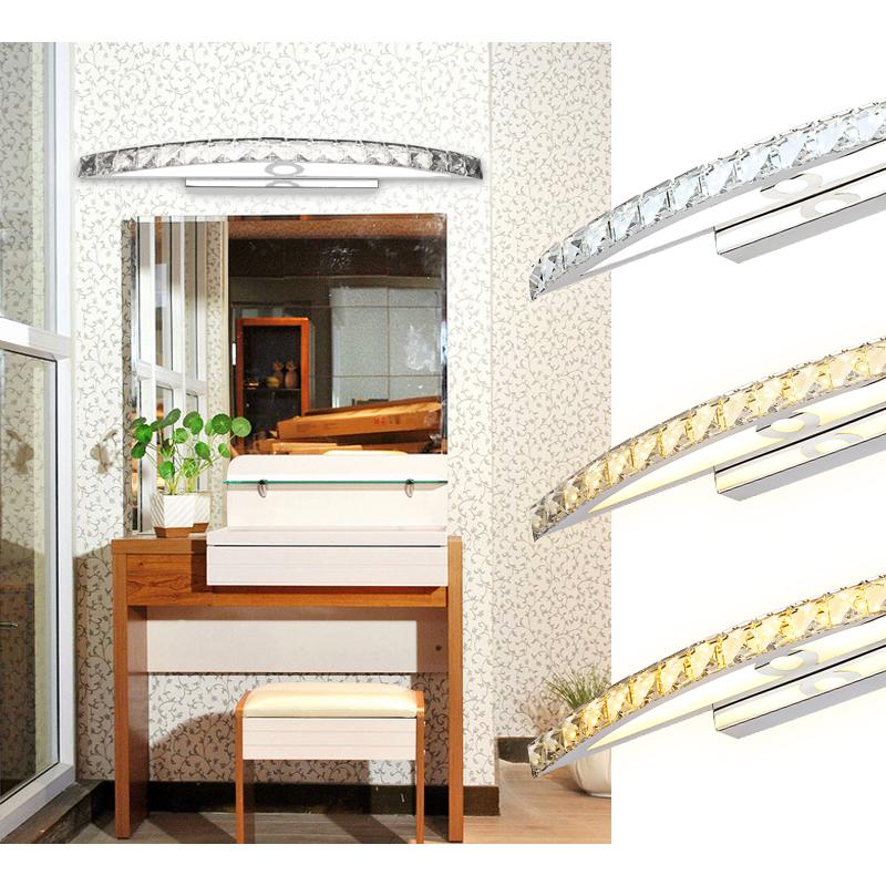 12 18w led kristall spiegelleuchte wandleuchte wandlampe badezimmer badleuchte ebay - Spiegelleuchte badezimmer ...