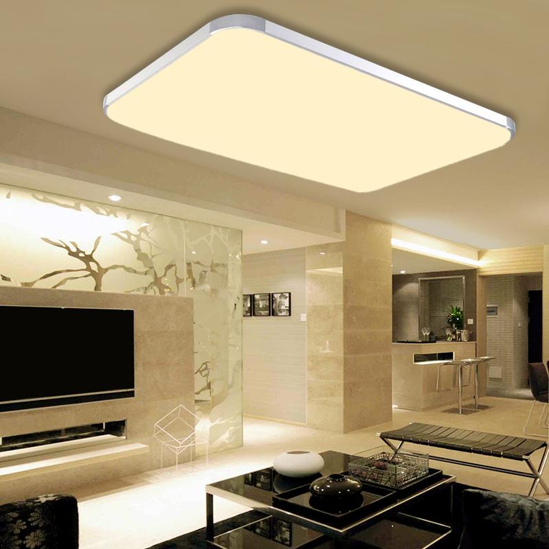 48w led deckenleuchte deckenlampe panel lampe wohnzimmer warmwei deckenlicht ebay. Black Bedroom Furniture Sets. Home Design Ideas