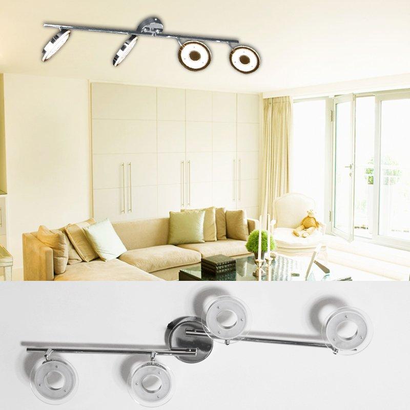 led deckenlampe deckenspot deckenleuchte deckenstrahler wohnzimmer kippbar 4er ebay. Black Bedroom Furniture Sets. Home Design Ideas