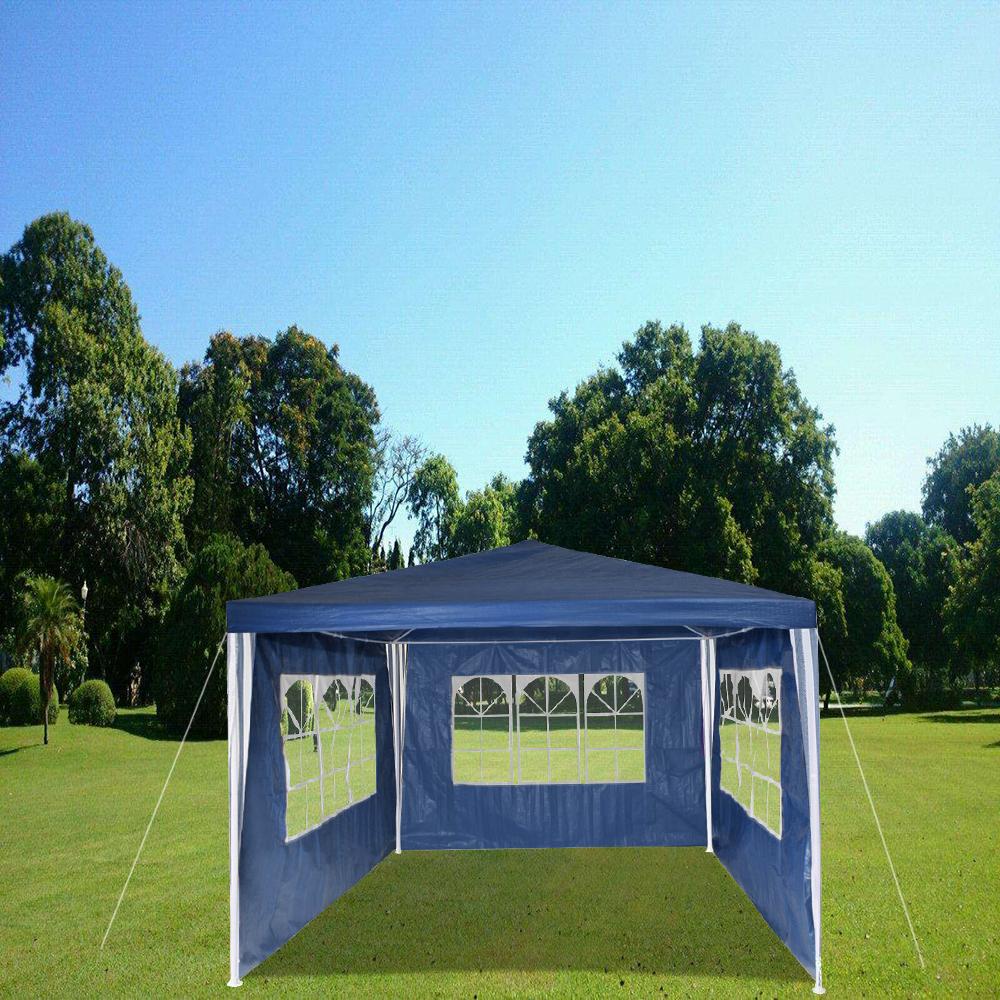3x4m festzelt bierzelt partyzelt gartenpavillon pavillion wei gr n blau ebay. Black Bedroom Furniture Sets. Home Design Ideas