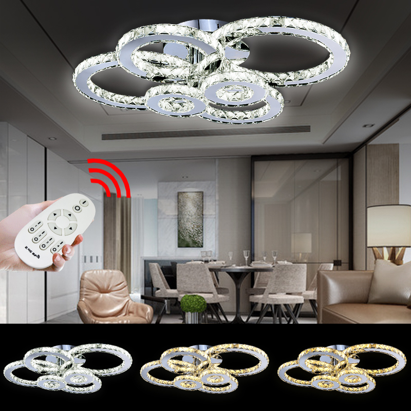 kristall kronleuchter dimmbar l ster decken led wohnzimmer. Black Bedroom Furniture Sets. Home Design Ideas