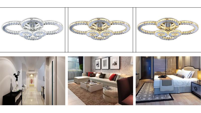 96w led kristall kronleuchter dimmbar l ster decken wohnzimmer h ngeleuchte ebay. Black Bedroom Furniture Sets. Home Design Ideas