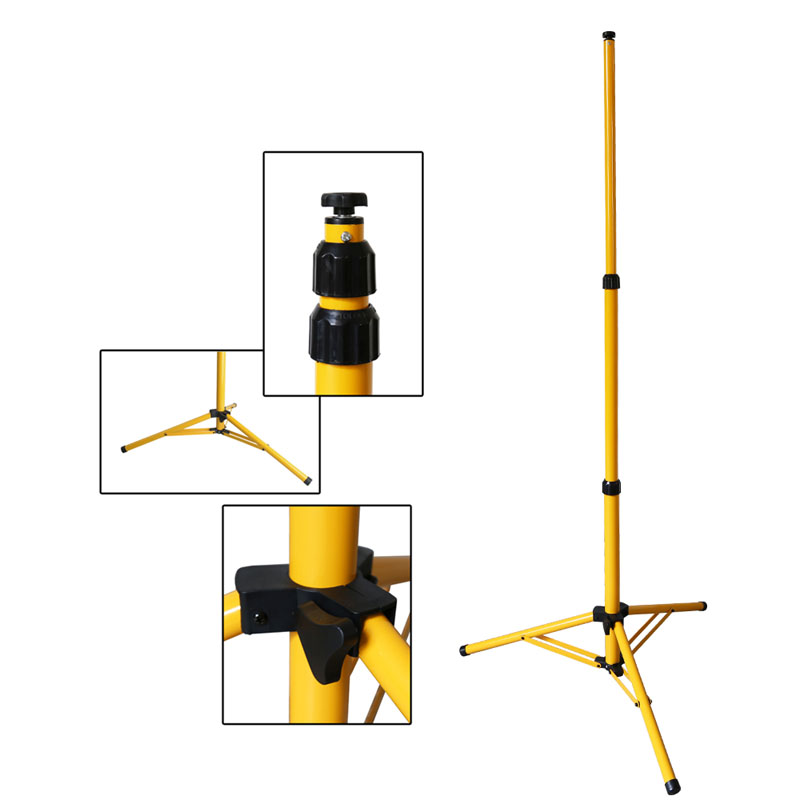 gelb lampenstativ stativ st nder f r led scheinwerfer strahler flutlicht lampe ebay. Black Bedroom Furniture Sets. Home Design Ideas