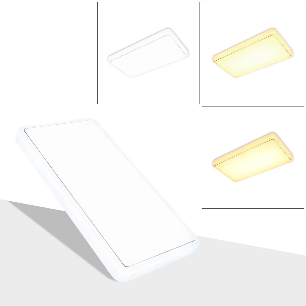60w 3 in1 led deckenleuchte deckenlampe wohnzimmer flur wandlampe farbwechsel ebay. Black Bedroom Furniture Sets. Home Design Ideas