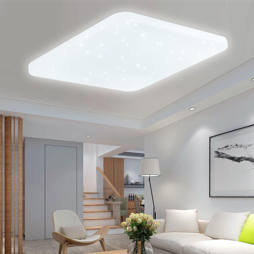 Led deckenleuchte starlight leuchte deckenlampe badlampe wandlampe wohnzimmer ebay - Wandlampe wohnzimmer ...