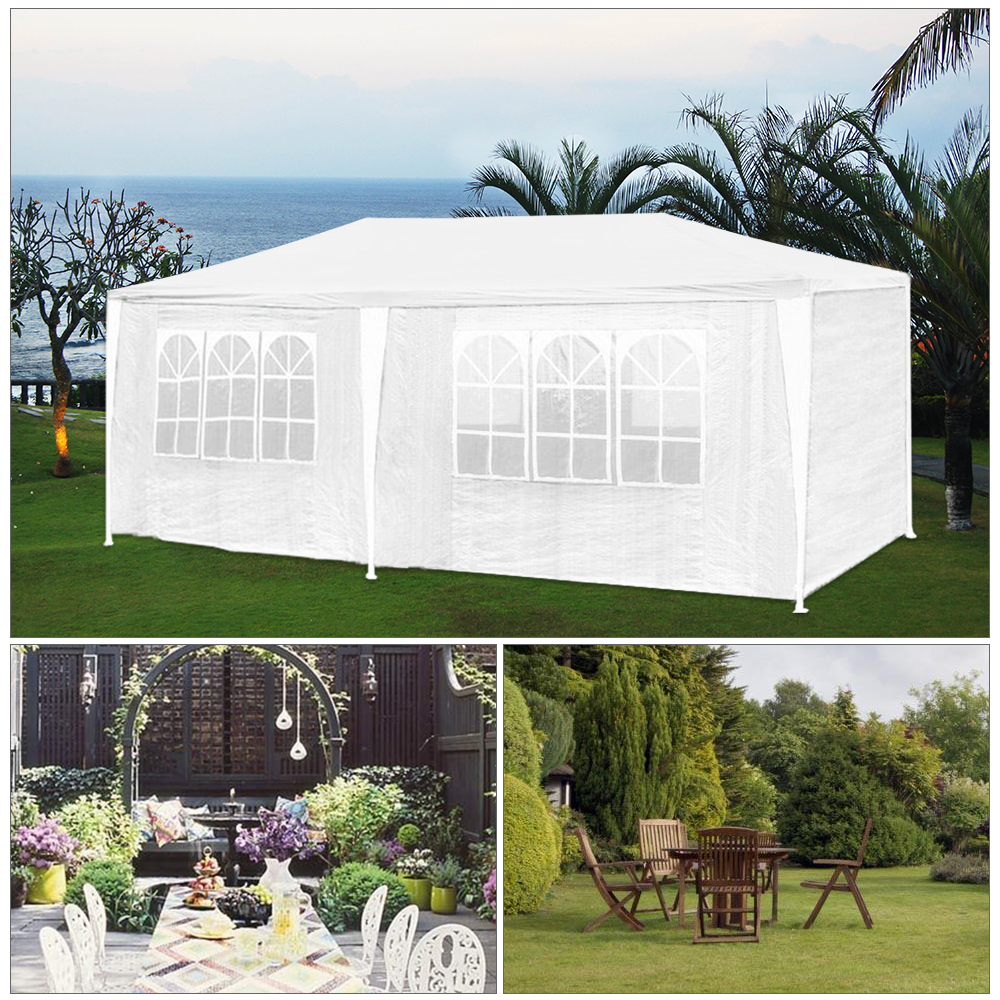 3x6m stabiles gartenpavillon festzelt partyzelt bierzelt. Black Bedroom Furniture Sets. Home Design Ideas