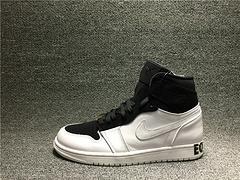 乔丹Nike Air Jordan 1 aj1 黑人月 乔1 黑白平等篮球鞋男AQ7474-001男女鞋36-45