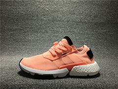真标1:1 三叶草新品!adidas Originals POD-S3.1 Boost 全新分离爆米花轻跑 橘粉B37364女鞋 36-39