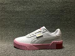 PUMA CALI WINS三明治厚底金标纯白黑白粉小白鞋板鞋369155-02 35.5-40 贰