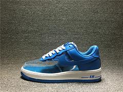 Nike Air Force 1 PREMIUM 空军一号 透明鞋面拼接 天蓝 313641-941 男女鞋 36-4513别男女鞋 36-45