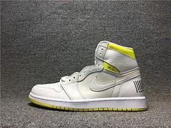 555088-170 40-45 AJ1First ClassFlight头等舱飞行白黄航班条形码篮球鞋
