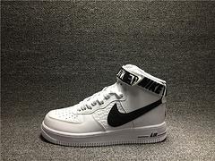 qq红包秒抢软件NBA别注版AF1空军一号新款高帮板鞋黑白315121-103男女鞋36-45