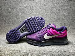 高品质1:1qq红包秒抢软件 AIR MAX2017网面透气泡步鞋851623-500女鞋36-39