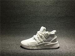 真标Adidas EQT BASK ADV 三叶草运动跑步鞋男女全白 DA9534 36-44