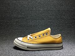 匡威1970s 三星标低帮黄色板鞋帆布鞋162063C 贰男女鞋35-44