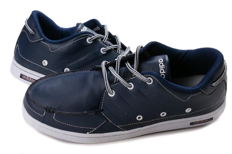 阿迪达斯adidas休闲鞋 英伦风格 休闲男鞋 限量版 白蓝 鼎