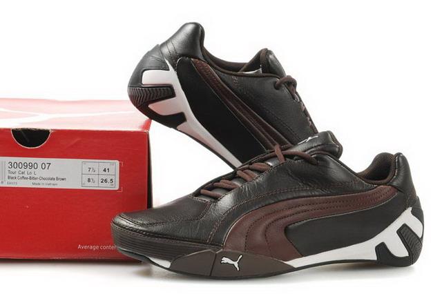 彪马 情侣鞋 法拉利赛车鞋 男鞋女鞋 运动休闲鞋子 棕红300990 09