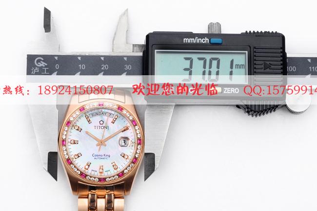 原装瑞士 梅花手表 titoni 787 rg dbrh 309 金机械高档男高清图片