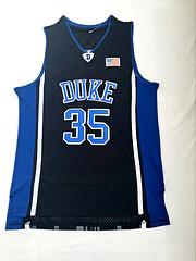 NCAA杜克大学35号马文巴格利MarvinBagleyIII黑色刺绣球衣