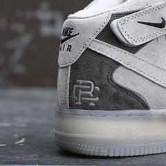 透明底 气垫 Nike Air Force1 Mid Champ AF1空军一号灰色联名板鞋男女全号