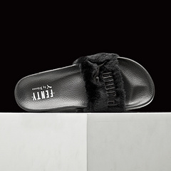 彪马拖鞋 蕾哈娜联名拖鞋PUMA BY RIHANNA LEADCAT FENTY 黑色35-40